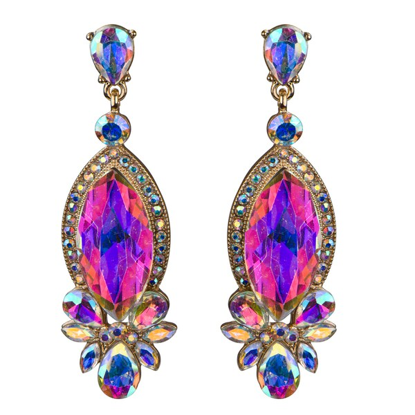 Marquise Crystal Rhinestone Evening Earrings