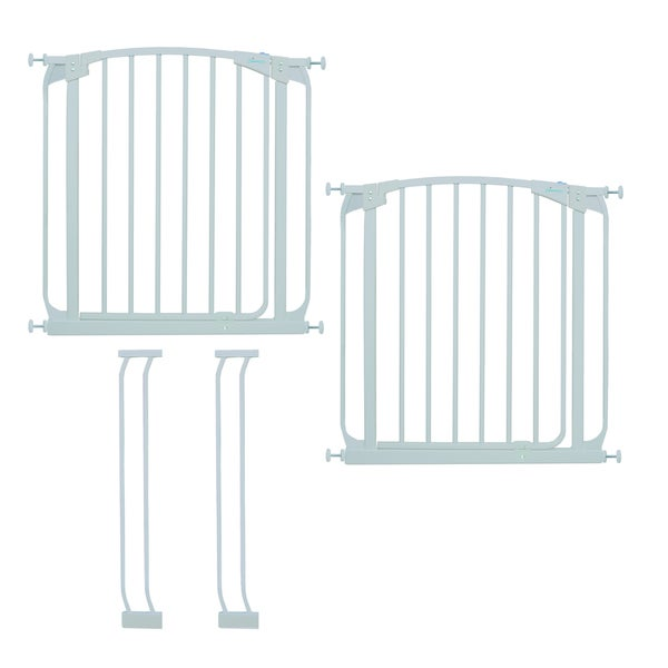"Dreambaby Chelsea Swing Close Gate Extra Value Pack- (includes 2 x Swing Close Security Gate + 2 x 3.5"" extension)"