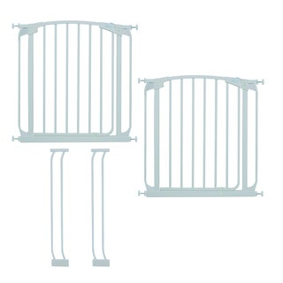 """Dreambaby Chelsea Swing Close Gate Extra Value Pack- (includes 2 x Swing Close Security Gate + 2 x 3.5"""" extension)"""