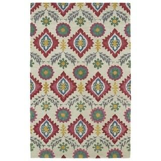 Handmade de Leon Wool Beige Boho Rug (8'0 x 10'0)
