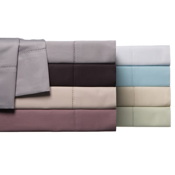 Hemstitch 100-percent Egyptian Cotton 800 Thread Count Pillowcases (Set of 2)