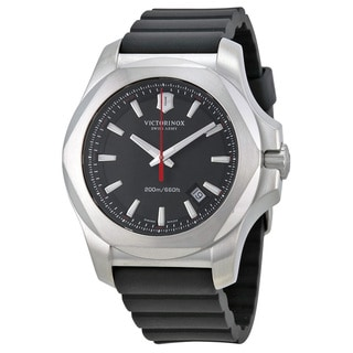 Victorinox Swiss Army 241682.1 Men's I.N.O.X. Black Rubber Strap Watch 43mm