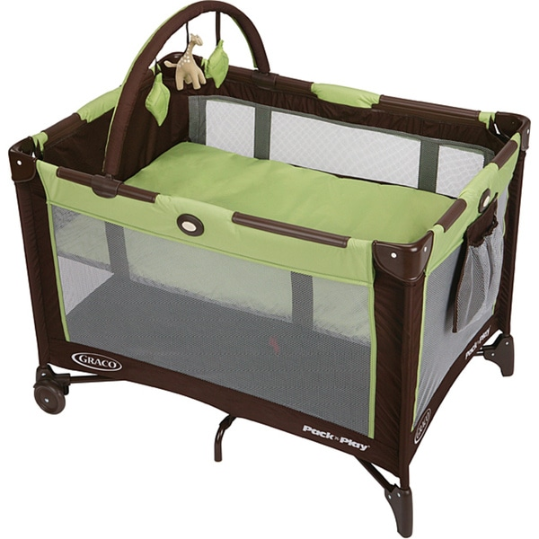 Graco Pack n' Play Playard with Bassinet in Go Green (As Is Item)