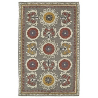 Handmade de Leon Wool Grey Boho Rug (8'0 x 10'0)