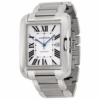 Cartier Men's W5310008 Tank Anglaise Silver Watch