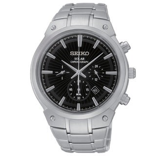 Seiko Men's SSC317 Solar Chronograph 100M Water Resistant Watch with a 6 Month Power Reserve