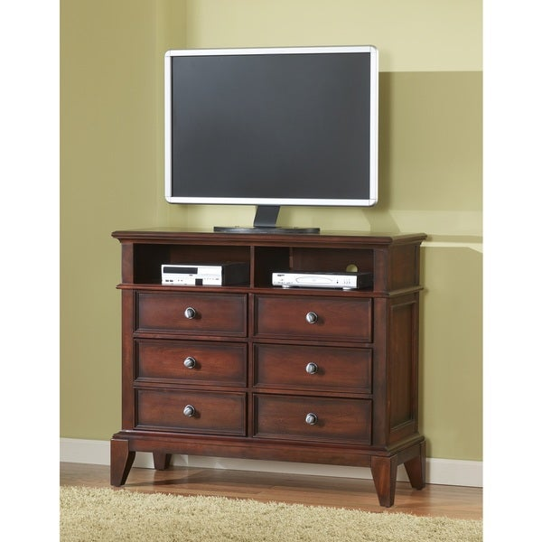 Lancaster Media Chest in Medium Brown Cherry