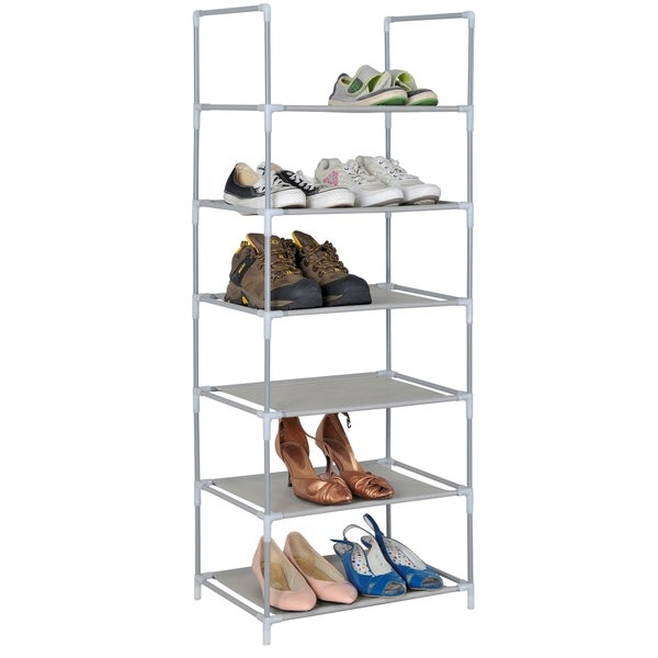 6-Tier 12 Pair Shoe Shelf Organizer