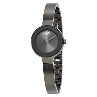 Movado Women's 3600324 'Bold' Crystal Black Stainless Steel Watch
