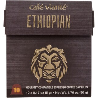 Cafe Viante Ethiopian 70-pack Coffee Capsules for Nespresso Compatible Machines
