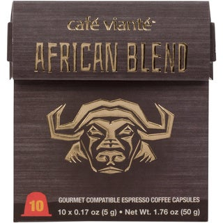 Cafe Viante African Blend Espresso Nespresso Compatible Coffee Capsules (Pack of 7)