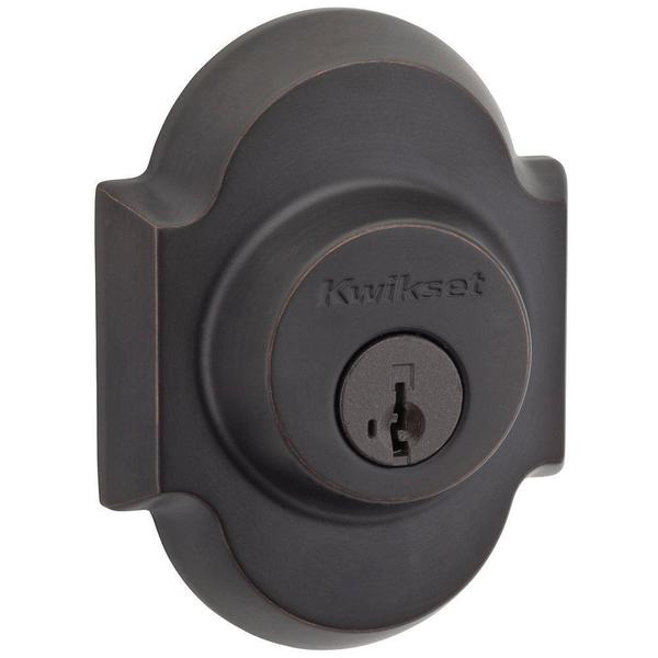 Kwikset Austin Single Cylinder Venetian Bronze Deadbolt Featuring SmartKey