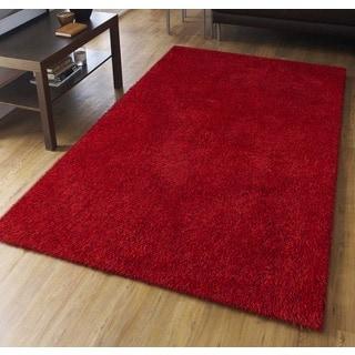 Palo Alto Shag Rug in Red (5' x 7'6)