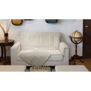 Two Piece Button Design Sofa Cover