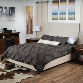 Christopher Knight Home Ellington Upholstered Fabric Bed Set
