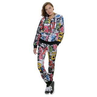 Women's Scuba Jog Pant Hoodie Zipper Jacket Set