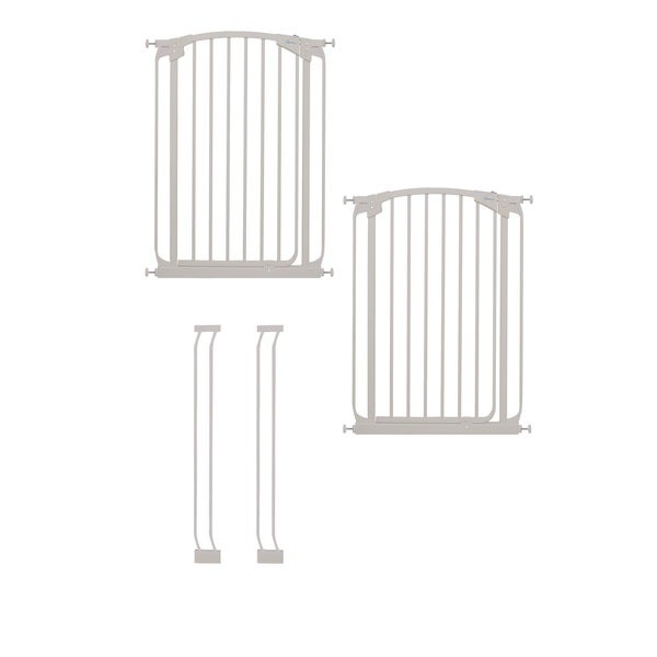 Dreambaby Chelsea Tall Swing Close Gate Extra Value Pack- White