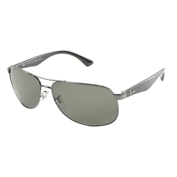 Ray Ban Men's Gunmetal Metal Aviator Polarized Sunglasses