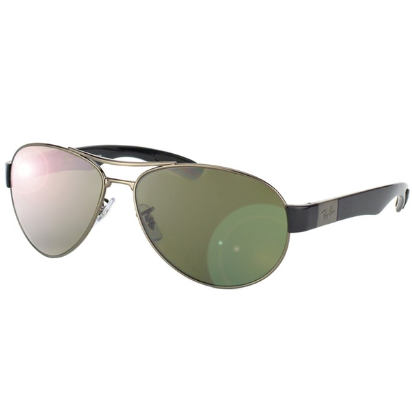 Ray Ban Men's Gunmetal Metal Aviator Sunglasses