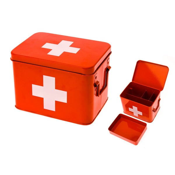 Classic Metal Medice Storage Box