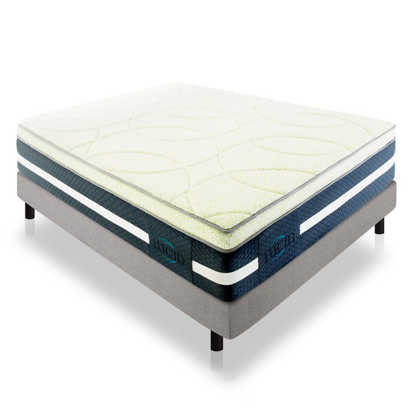 LUCID 16-inch Cal King-size Memory Foam and Latex Hybrid Mattress