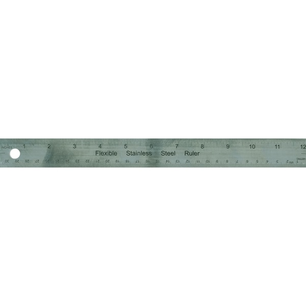 Metal Ruler 12inCork Back