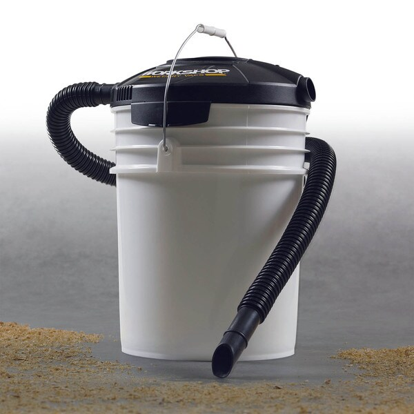 Workshop Wet Dry Vacs PP0100VA Wet Dry 1.75 Peak HP Shop Vacuum Powerhead Filter and Hose for 5 Gallon Bucket
