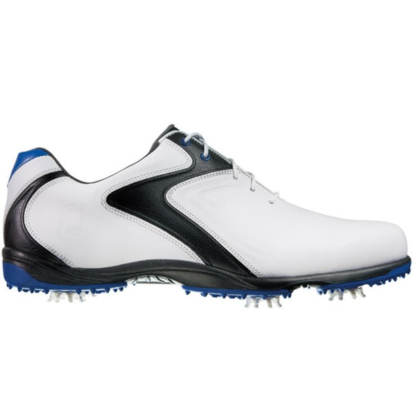 FootJoy Mens HydroLite White/Black/Blue Golf Shoes