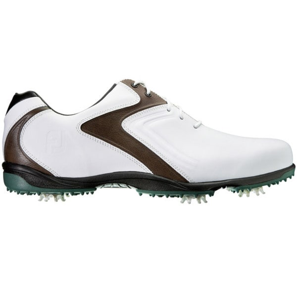FootJoy Mens HydroLite White/Brown/Green Golf Shoes