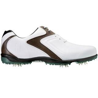 FootJoy Mens HydroLite White/Brown/Green Golf Shoes