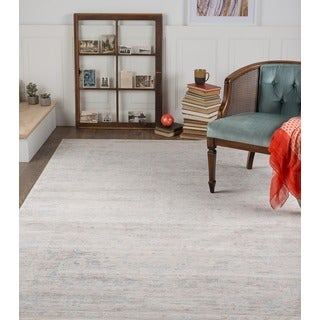 Alise Auralia Traditional Oriental White Area Rug (5'2 x 7'6)