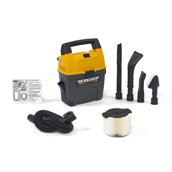 Workshop Wet Dry Vacs WS0301VA Portable 3-gallon Wet Dry Shop Vacuum for Auto Garage and Home with Car Cleaning Kit
