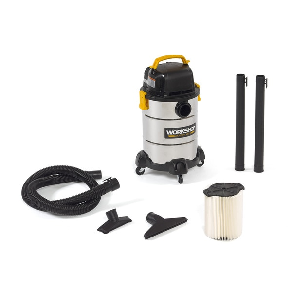 Workshop Wet Dry Vac WS0600SS 6-gallon 4.25 PHP Stainless Steel Shop Vacuum