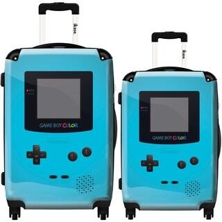 iKase Light Blue Game Boy 2-piece Hardside Spinner Luggage Set