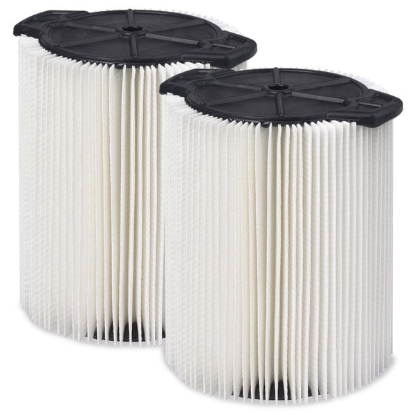 Workshop Wet Dry Vacs WS21200F2 Standard Cartridge 5 to 16-gallon 2-pack Filter for Wet Dry Shop Vacuum
