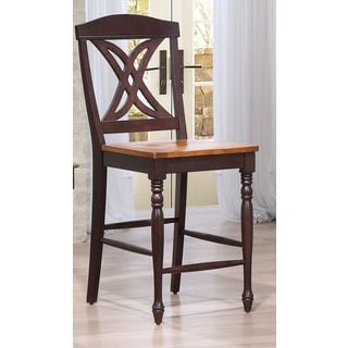Iconic Furniture Butterfly Back Whiskey Mocha 24 inch Counter Stool