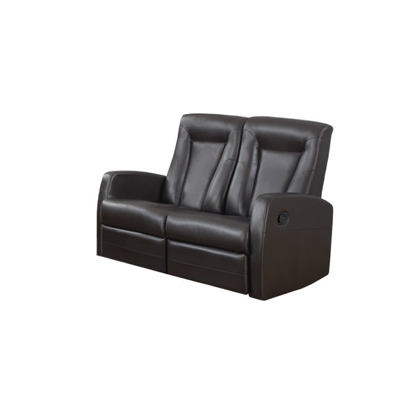 RECLINING - LOVESEAT BROWN BONDED LEATHER 16793179