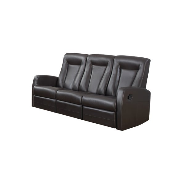 RECLINING - SOFA BROWN BONDED LEATHER 16793181