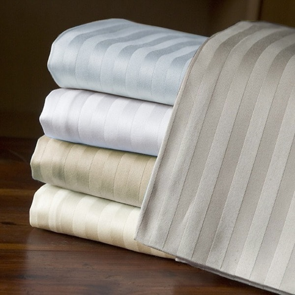 Echelon Home Egyptian Cotton Stripe 800 Thread Count Pillowcases (Set of 2)