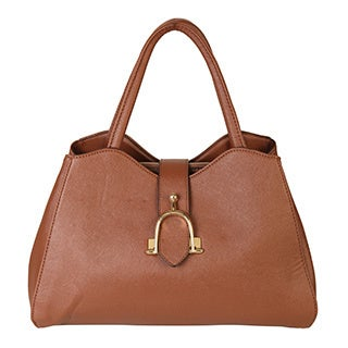 Rimen & Co. Saffiano PU Leather Snap Closure Divided Compartments Satchel Handbag Purse