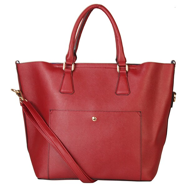 Rimen & Co. Top Handle Zipper Closure Large Capacity Womens Fashion Satchel Tote Handbag Purse