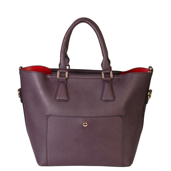 Rimen & Co. Front Pocket Zipper Closure Multiple Compartments Womens Fashion Satchel Tote Handbag Purse