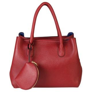 Rimen & Co. Saffiano PU Leather 2 Shapes Top Handle Coin Bag Classical Women Tote Handbag Purse