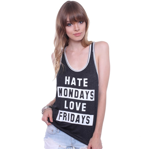 Jc Fits Juniors' Hate Mondays Love Friday Tank Top