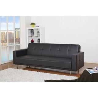 Cleveland Black Convertible Sofa Bed