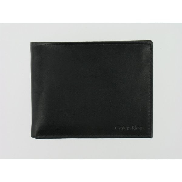 Calvin Klein Men's Black Leather Billfold Wallet