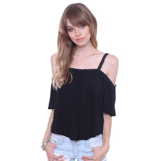 Heart & Hips WT14946 Juniors' Sweet Off The Shoulder Blouse