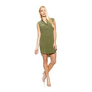 Equipment Sleeveless Slim Signature Shirt Dress