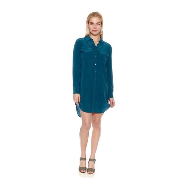 Women's Silk Slim Signature Button Down Dress