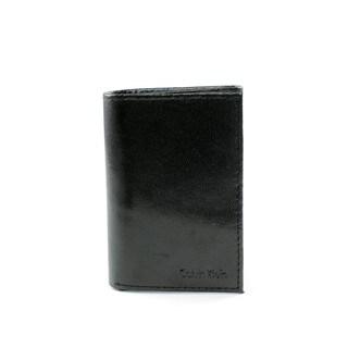 Calvin Klein Men's Black Leather Trifold Wallet